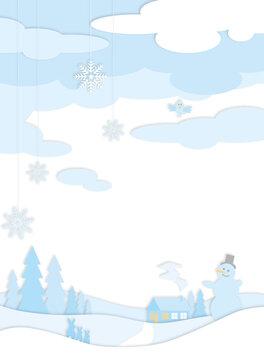 Winterlandschaft bei Tag