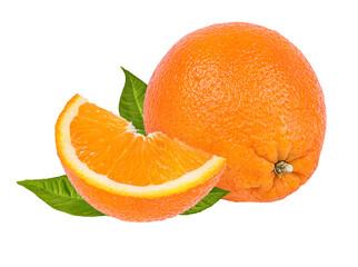 Fototapete -  orange fruit isolate on white background