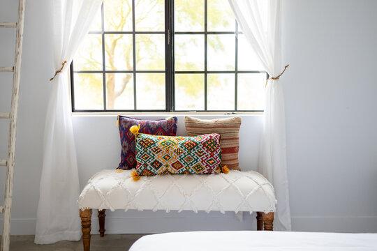 Southwestern Style Bedroom Decor inside a Desert Home