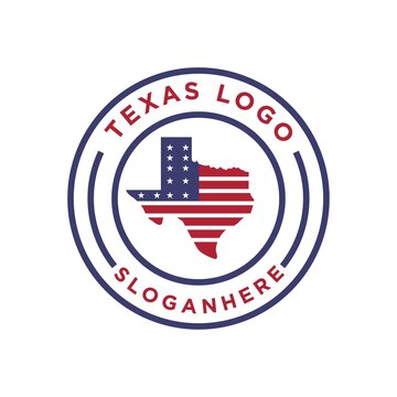 map logo america texas usa vector design