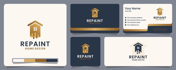 Fototapeta repaint ,paint ,home ,banner and business card , logo design inspiration