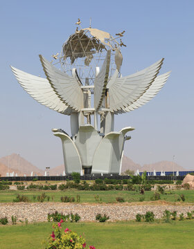 Sharm el Sheikh, Egypt - October 28.10.2020: Peace Square monument is listed in the Guinness Book of Records