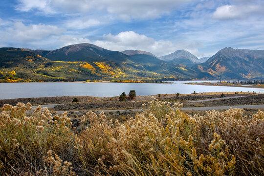Scenic Landscape of Twin Lakes, Colorado