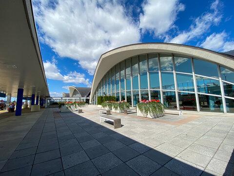 The exterior of  St. Louis, MO Lambert International Airport STL.