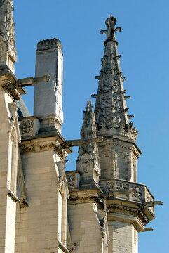 Château de Vincennes, détail de la Sainte Chapelle fondée en 1379, ville de Vincennes, département du Val de Marne, France
