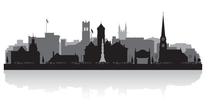 Williamsport Pennsylvania city skyline silhouette