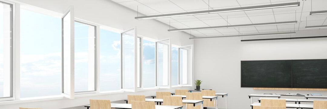 Open windows when ventilating the classroom due to Covid-19