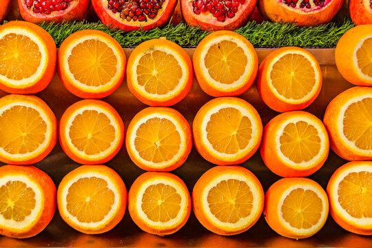 Oranges at Market Display