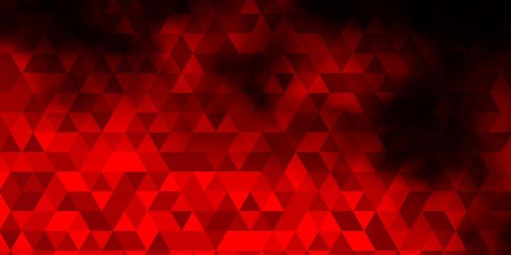 Dark Red vector texture with triangular style.