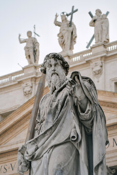 View of a statue in Rome, Italy