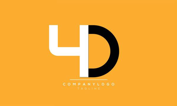 Alphabet letters Initials Monogram logo 4D