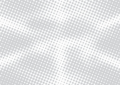 Light grey abstract pop art comic style background with halftone effect, vector illustration