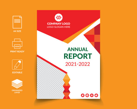 Business annual report template Free Vector, Annual report design vector