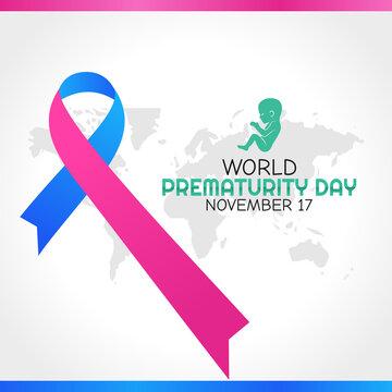 vector graphic of world prematurity day good for world prematurity day celebration. flat design. flyer design.flat illustration.