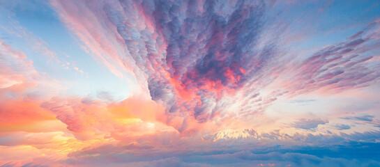 Creative cloud landscape background image, illustration background, illustration rendering