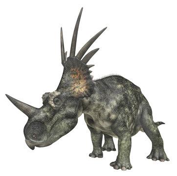 Dinosaurier Styracosaurus, Freisteller
