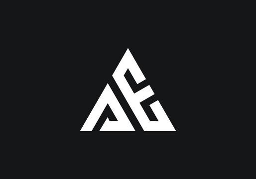 Letter AE Logo Design Vector Template.