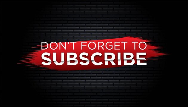Subscribe background template.