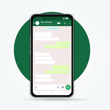Mockup design of mobile messenger