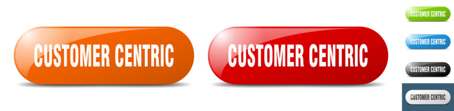 customer centric button. key. sign. push button set