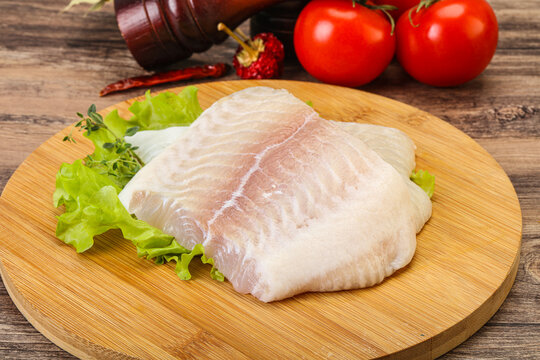 Raw pangasius fillet for cooking