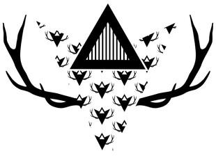 deer antlers with triangle shape