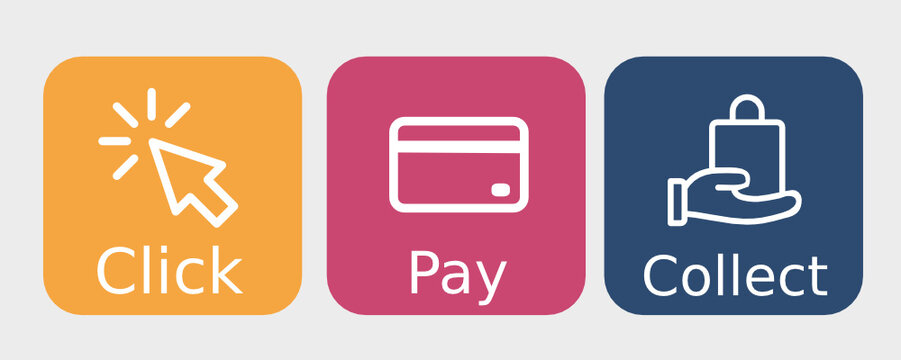 Click Pay Collect 3 colours