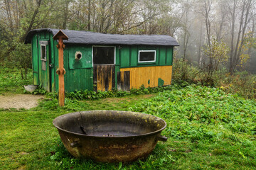 Old huts in the Bieszczady Mountains, Poland