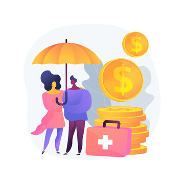 Emergency support fund abstract concept vector illustration. Support for sick people, quarantined, or in directed self-isolation, governmental help, emergency response benefit abstract metaphor.