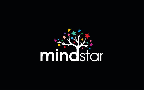 Psychology logo forms a symbol of the brain and is shaped to resemble a leafy star tree