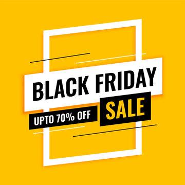 trendy black friday sale yellow background design