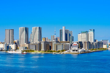 Fototapeta 東京オリンピック選手村 晴海と勝どきの高層ビル Tokyo Olympic Village, Harumi and Kachidoki skyscrapers