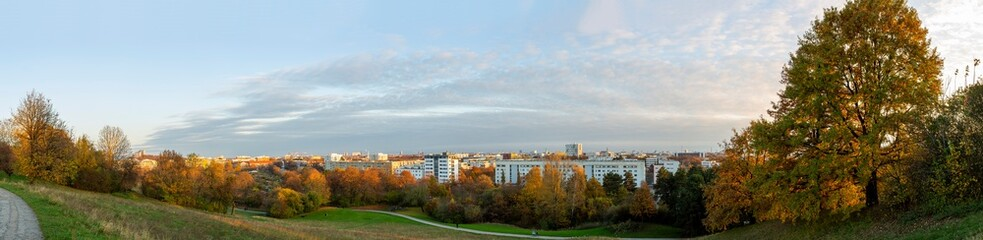 Panorama of eastern Munich in the afternoon.