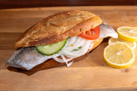 a delicious fish specialty from hamburg - fish rolls