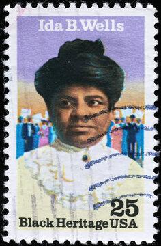 Black heritage, Ida B. Wells on american stamp