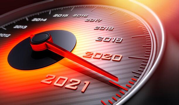 Tachometer 2020 auf 2021