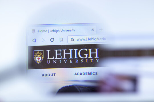 Moscow, Russia - 1 June 2020: Lehigh University website with logo, Illustrative Editorial