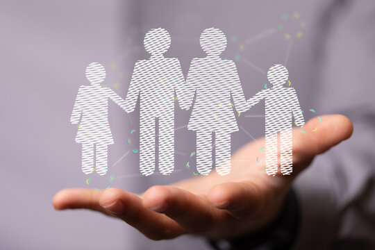 hands with Family Protection And Care Concept