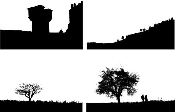 4 silhouette of a landscape