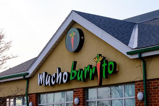 A Mucho Burrito mexican restaurant location in Ottawa, Ontario, Canada on November 6, 2020.