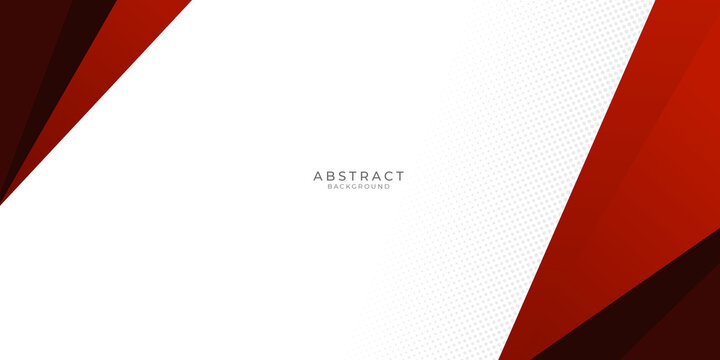 red and black abstract triangle banner design background