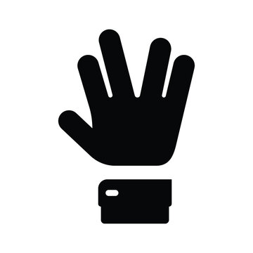 Hand spock Icon,Vulcan Salute  Icon