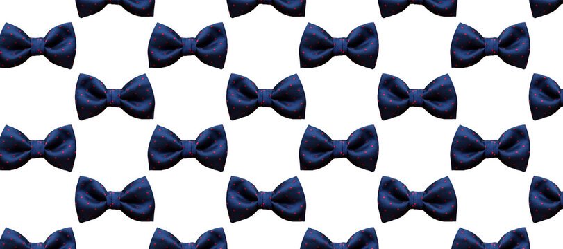 top view bow tie texture background.