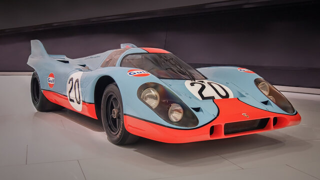 STUTTGART, GERMANY-APRIL 7, 2017: 1970 Porsche 917 KH Coupe in the Porsche Museum.