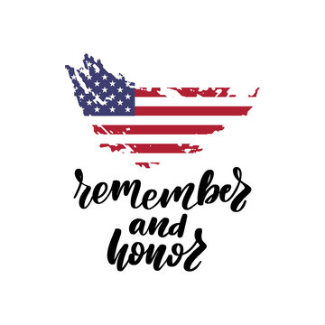 Memorial Day in United States. Remember and Honor.