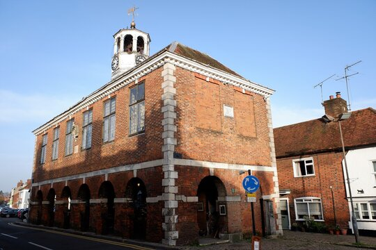 Old Amersham Market Hall dating from the 17th century in Amersham, Buckinghamshire