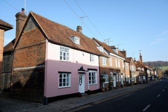 Historic houses in Whielden Street, Old Amersham, Buckinghamshire, UK