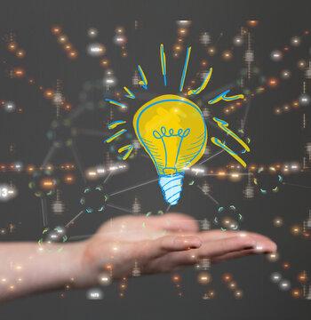 idea lamp digital innovation 3d
