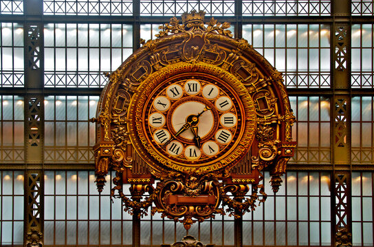 Train Station Clock, Musée d'Orsay, Paris, France