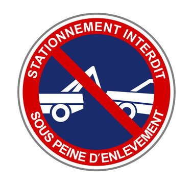 stationnement interdit sous peine d'enlèvement